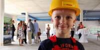 showimage Kinderbaustellenleiter legt Grundstein für neues Kinderhotel der SEETELHOTELS Usedom