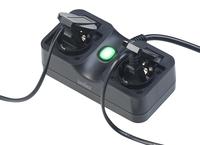 Luminea Home Control Outdoor-WLAN-2-fach-Steckdose