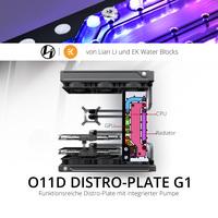 BRANDNEU bei Caseking – Lian Li O11D Distro-Plate G1 mit integrierter Pumpe