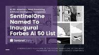 SentinelOne als einziger Endpunktsicherheits-Anbieter in den Forbes AI 50 gelistet