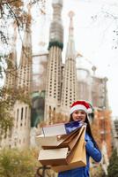Moderne und umweltfreundliche Papiertragetaschen für das Weihnachtsgeschäft