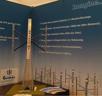 Welt-Neuheit - Vertikale Windkraftanlage 1 MW, Husum Wind 2019