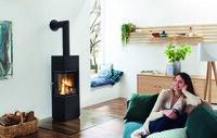 Feuer im Quadrat: Technik und Design machen eckigen Kaminofen rund