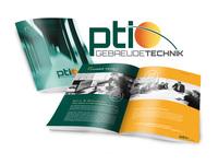 Print und Web für PTI Gebäudetechnik