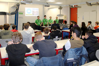 Controlware im Austausch mit dem IT-Nachwuchs auf der Ausbildungsmesse der Weibelfeldschule Dreieich