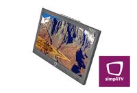 Der erste tragbare Fernseher mit integriertem simpliTV CA-System - XORO PTL 1055
