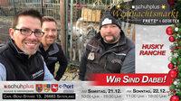 Im Saterland am c-Port gibt es Hundeschlittenfahrten beim ersten schuhplus - Weihnachtsmarkt