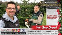 Der erste schuhplus - Weihnachtsmarkt mit Tannen vom Pflanzencenter Niehüser aus Sedelsberg
