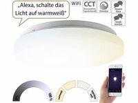 Luminea Home Control WLAN-LED-Deckenleuchte, 36 Watt