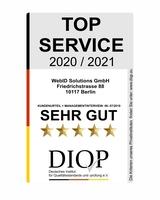 WebID Solutions mit Top Service (DIQP) ausgezeichnet