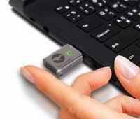 Weltweit einzigartig: hardwareverschlüsselter, managebarer Fingerabruck USB-Stick der überall funktioniert