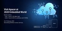 Apacer gibt neue Partnerschaften für Industrial Cloud Services auf der Embedded World 2020 bekannt