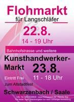 Kunsthandwerkermarkt zum Altstadtfest in Schwarzenbach an der Saale 23.8.20