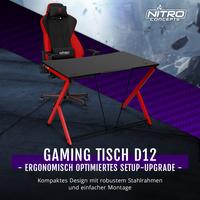 BRANDNEU bei Caseking - Der ergonomische Nitro Concepts D12 Gaming-Tisch.