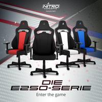 NEU bei Caseking: Nitro Concepts E250 Gaming-Stühle mit ausgezeichnetem Preis-Leistungs-Verhältnis!