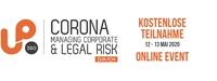 Kostenloses Online Event zum Corna Virus -  ScaleUp 360° Corona: Managing Corporate & Legal Risk
