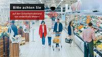 Durchsage-Erinnerung zu Social Distancing in Echtzeit für Einzelhandel und andere Einrichtungen
