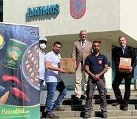 Baladna spendet der Stadt Heinsberg 500 Lebensmittelpakete