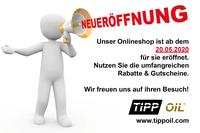 TIPP OIL  eröffnet  Online Shop im B2B Handel