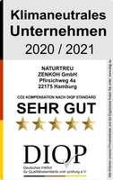"""Zertifikat als """"Klimaneutrales Unternehmen (DIQP) an die ZENKOH GmbH verliehen"""