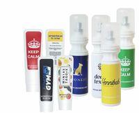 Kronenberg24.de stellt vor: Antibakterielles Desinfektionsspray und Handgel mit individuellem Aufdruck