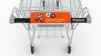 Hygiene-Griffschutz für Einkaufs- und Gepäckwagen.