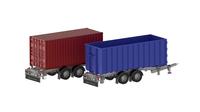 Abrollcontainer und Wechselbrücken - Zentralachsanänhänger sorgt für Flexibilität in alle Transportrichtungen