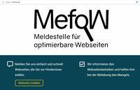 MefoW: Meldestelle für optimierbare Webseiten gestartet!