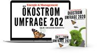 Ökostrommarkt 2020 -  Immer mehr grün - die 15. Ökostromumfrage von Energie & Management