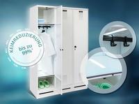C + P Möbelsysteme lanciert Weltneuheit: Der UV-C Garderobenschrank