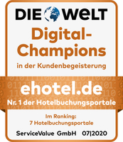 ehotel® comes top in the industry and scores a Digital Champions 2020 award