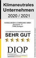 Klimaneutrales Unternehmen (DIQP) an Hanselmann & Compagnie GmbH vergeben
