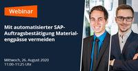 Auftragsbestätigungen in SAP automatisiert verarbeiten - damit die Produktion läuft