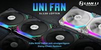 Neu bei Caseking: Lian Li UNI FAN SL120 Daisy-Chain-Fans