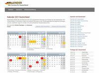Neuer Onlinekalender hilft bei Urlaubsplanung