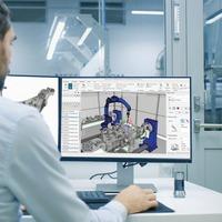 Einfache simulationsbasierte Offline-Programmierung von Roboterzellen mit DUALIS