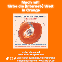 #patientsafety - Die (Internet-)Welt in Orange