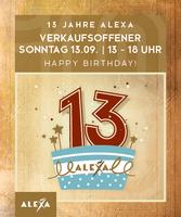 ALEXA feiert am 13. September den 13. Geburtstag