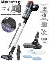 Sichler Haushaltsgeräte 3in1-Zyklon-Hand- & Bodensauger
