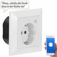 Luminea Home Control WLAN-Unterputz-Steckdose mit App