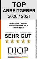 Top Arbeitgeber (DIQP) an MINDEIGHT GmbH aus Berlin vergeben