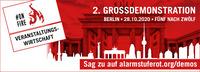 #AlarmstufeRot ruft zu Großdemo am 28.10.2020 in Berlin auf!