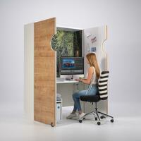 Home-Office-Möbel mocube trennt Privat und Arbeitswelt