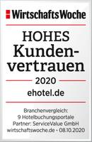 ehotel® belegt Spitzenplatz im Vertrauensranking der WirtschaftsWoche