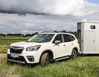 Pferdeanhänger-Zugfahrzeugtest auf www.mit-Pferden-reisen.de: Subaru Forester e-Boxer