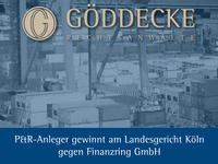LG Köln verurteilt Finanzring GmbH zu Schadensersatz