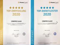 TOP Auszeichnung für CRMPRO GmbH