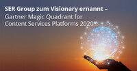 """SER Group zum """"Visionary"""" im neuen Gartner Magic Quadrant für Content Services-Plattformen 2020 ernannt"""