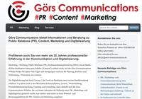 Görs Communications bietet Informationen und Beratung zu PR, Content, Marketing und Digitalisierung