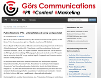 Public Relations (PR) - unterschätzt und wenig wertgeschätzt